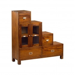 Mueble escalera colonial madera mindi