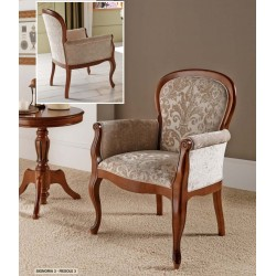 Sillón neoclásico tapizado
