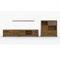 Salón moderno en madera maciza