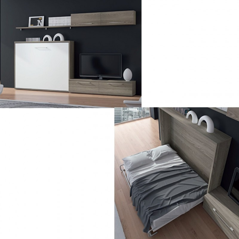 Cama horizontal king size multimedida