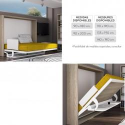 Abatible horizontal con escritorio
