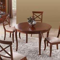 Mesa comedor clásica madera cerezo extensible