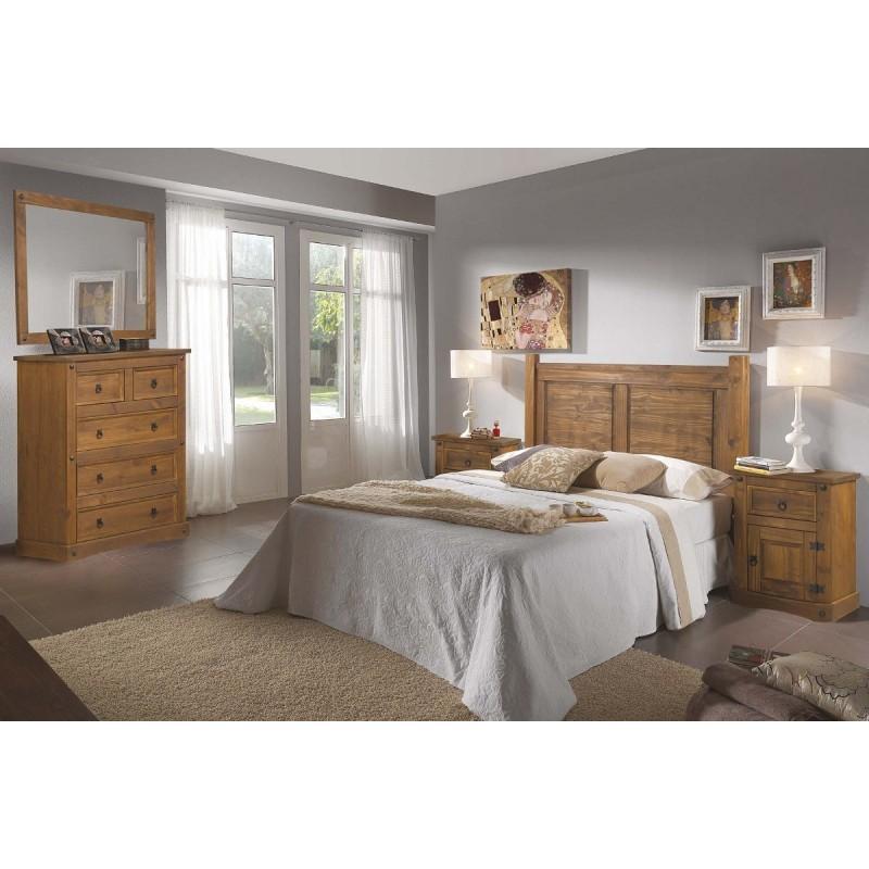 Dormitorio rústico madera maciza