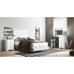 Dormitorio juvenil Blanco...