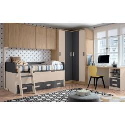 Dormitorio 344x285 cm. con...