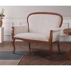Sofá neoclásico tapizado 120