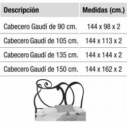 Cabecero de forja Dalí varias medidas