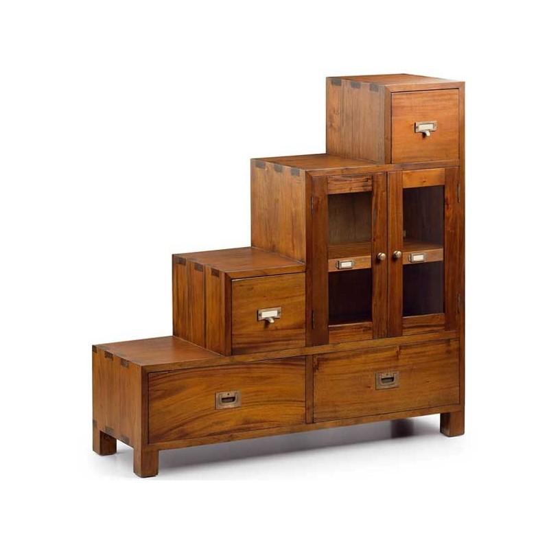 Aparador 6 cajones madera mindi estilo colonial