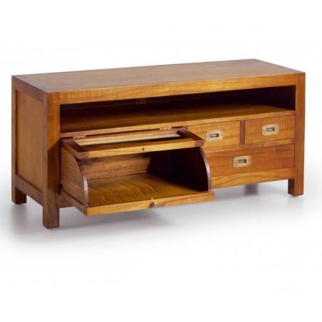 Mueble escalera colonial madera mindi izquierda