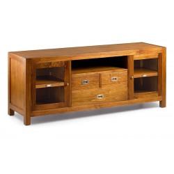Mueble tv 3 cajones, puerta y hueco 110