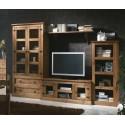 Mueble de salón rústico miel cera kit