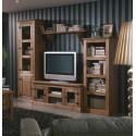 Salón madera rústico 290 cm. nogal