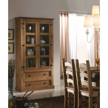 Mesa tv rústica madera maciza