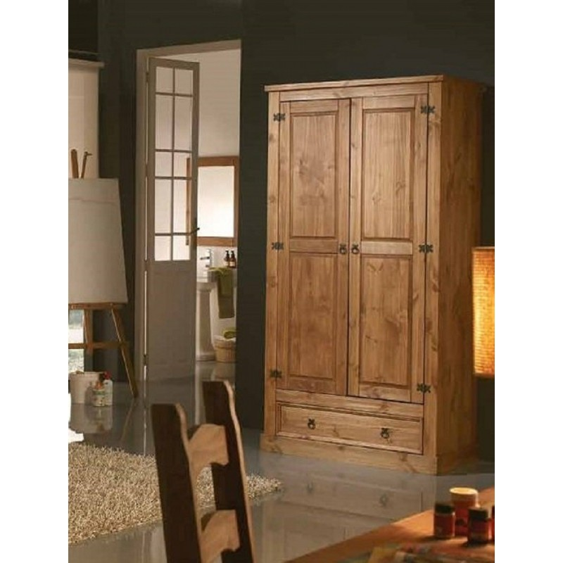 Dormitorio juvenil colonial madera maciza