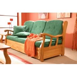 Sofá cama de madera maciza