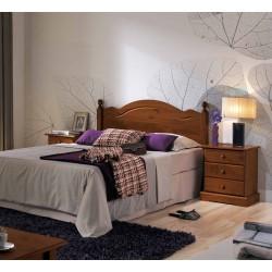 Dormitorio miel/nogal completo