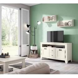 Mueble tv con estantes...